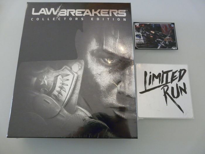 PS4 limited run game :  LAW BREAKERS Collectors Edition