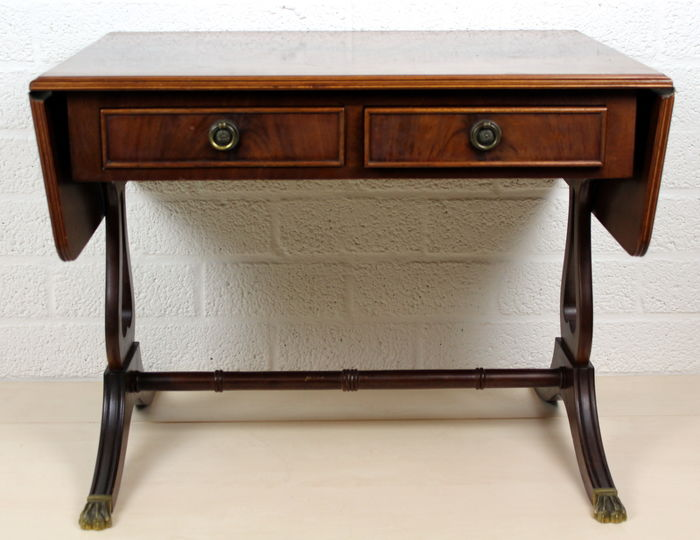 Walnut side table with two drawers -Netherlands - 1st half 20th century