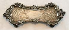 Antique Victorian silver plate butter dish with a pewter base, Circa.1870's