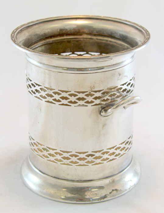 Antique Silver Plate Wine Coaster, Early 20th Century