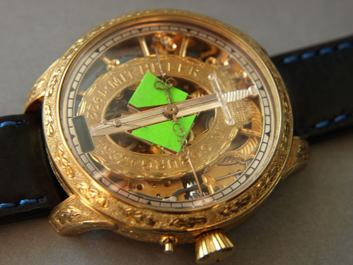 12 Glashutte Original - skeleton wristwatch - Heren - 1901-1949