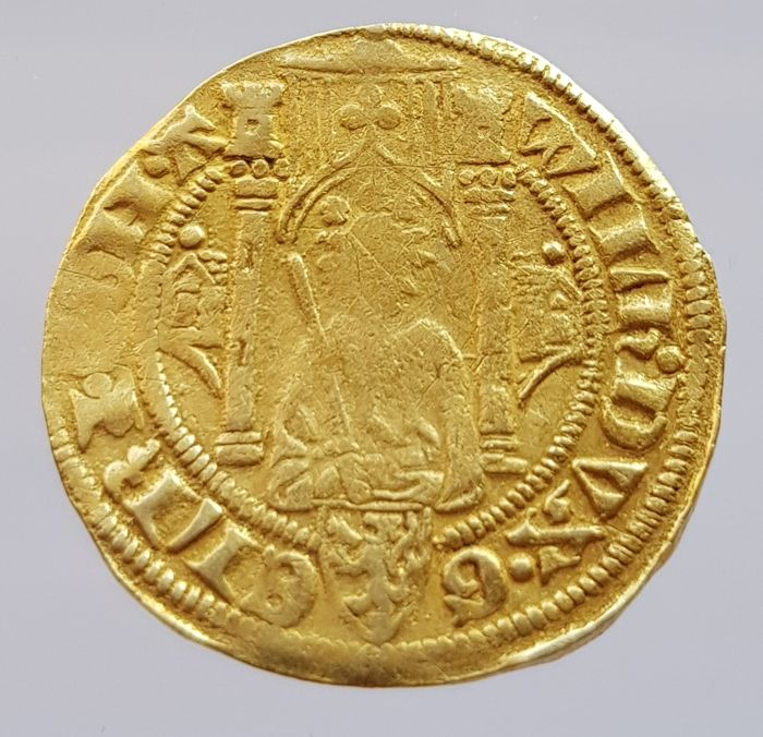 The Netherlands, Duchy of Gelre - Rhine gold guilder without year, Willem I of Gulik (1371–1402) - gold