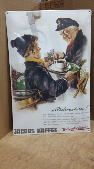 "Enamel sign ""Jacobs Kaffee"""