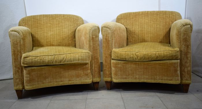 Pair of Italian 1930s armchairs.