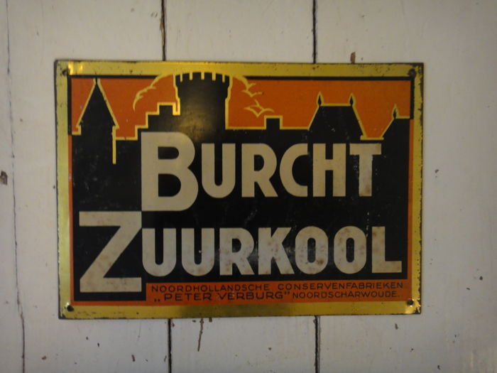 Burcht zuurkool - Door post sign -