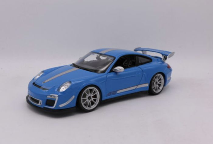 Burago - Scale 1/18 - Porsche 911 GT3 RS 4.0 - Colour: Blue / Silver