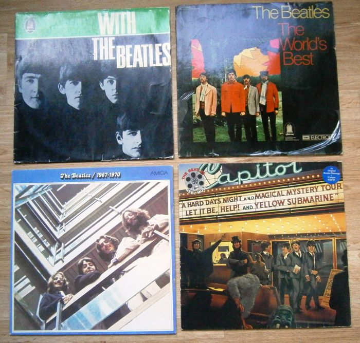 Beatles: 4 very Nice LP's from Germany!