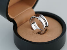 Bvlgari - B. Zero1 2-band ring - 2337AL - 1 kt white gold - ring size 61 - 10.2 g - including Bvlgari box