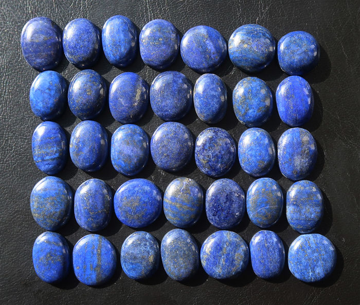 Impressive lot of large-sized cabochons in Lapis lazuli - 2.2 to 2.5 cm - 860 ct (35)