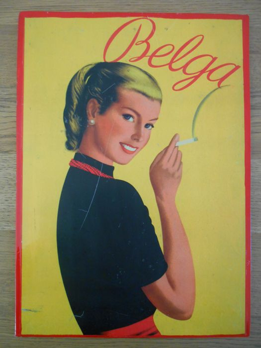 Rare advertising sign for Belga from 1950