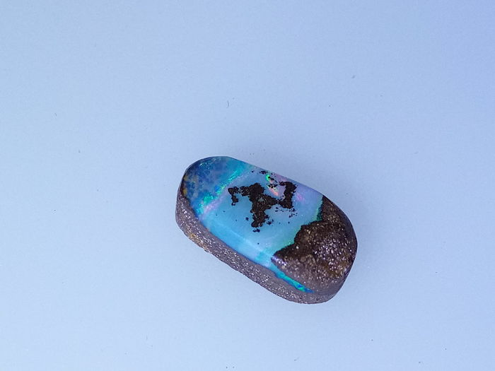 Fine Quality Flashy Blue/Green/Pink colors - Untreated 100% Natural Australian Boulder Opals Fancy Cab 4.10 ct