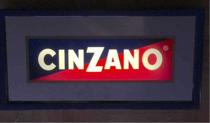 CINZANO vintage outdoor lighted sign - very rare - 1970s