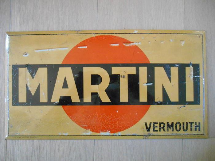 Rare advertising sign for Martini Vermouth from 1932