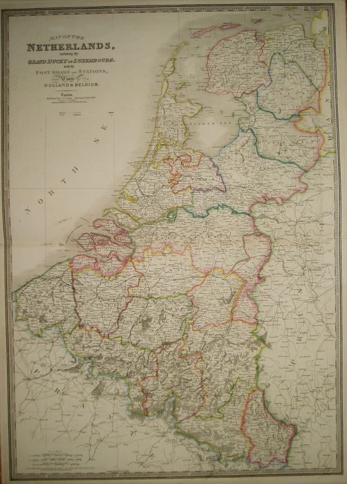 the netherlands belgium luxembourg james wyld map of the netherlands including
