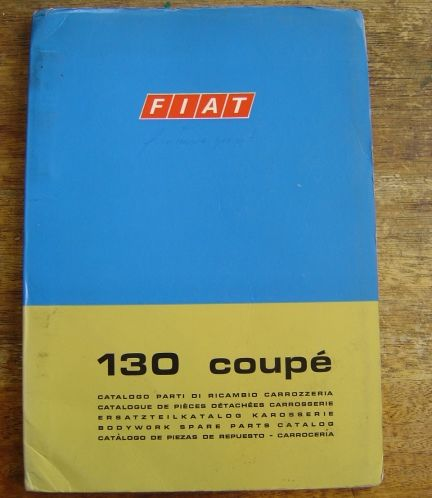 Fiat 130 Coupe Body Spare Parts Catalog