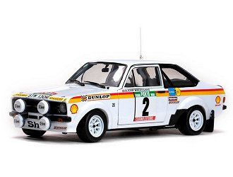 Sun star - Schaal 1/18 - Ford Escort RS1800 #2 - Limited 1290 pcs. - 2nd Rallye de Portugal 1977 - Drivers: B.Waldegard/H.Thorszelius