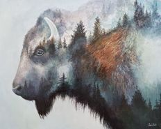 Saideh Sayyah - Forest Bison