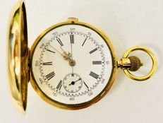 Alfred Levrin Swiss  - 1/4 Repetition Chronograph Taschenuhr - Heren - 1850-1900