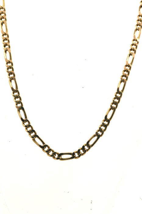 Necklace - figaro chain in yellow-gold 585 / 14 kt - length 53.5 cm