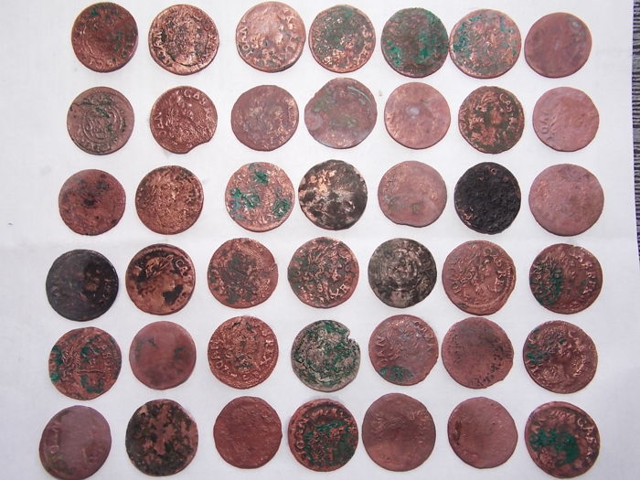 Poland - 42 coins 1661-1666 of the reign of the Casemir