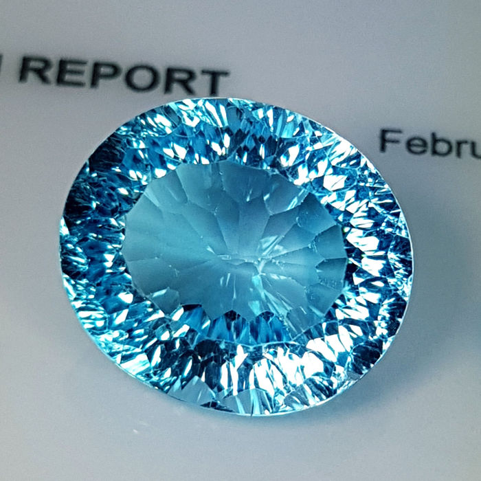 Swiss Blue Topaz - 12.62 ct