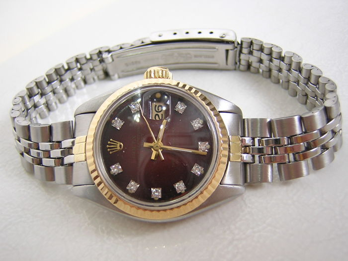 Rolex - Ladies Oyster perpetual diamond dial - 6916 - Dames - 1980-1989