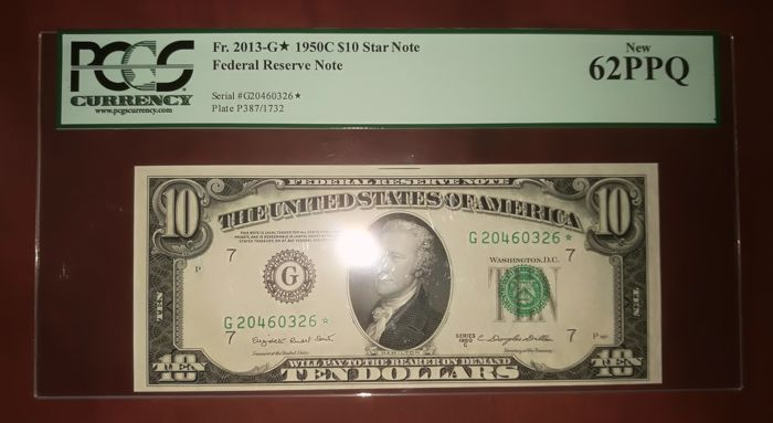 USA - 10 dollars 1950 C - Fed.Res. STAR NOTE - Friedberg 2013-G*