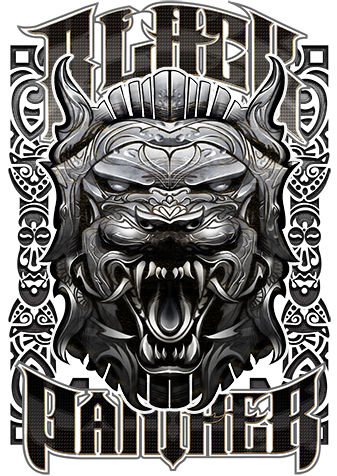 Black Panther Mask - Limited Edition Signed Metal Print By David Bircham - (2018)