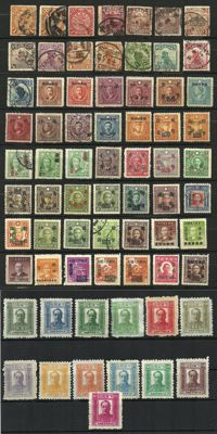 China – Various periods, also overprinted.