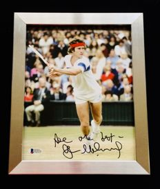 John McEnroe - Authentic & Original Signed Autograph in Premium Aluminum Framed Photo ( 20x25cm ) - with Certificate of Authenticity BECKETT