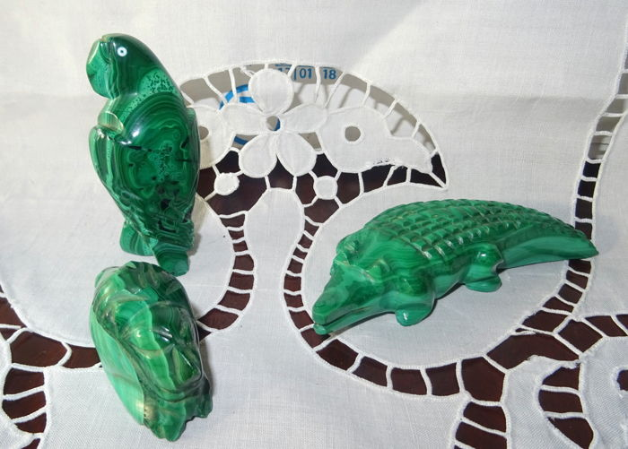 Green Malachite Animals - 470 g (3)