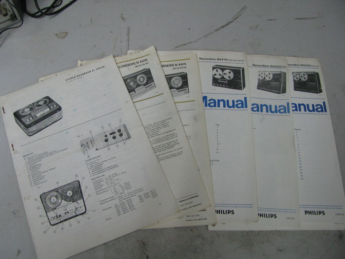 Philips service manuals (diagrams) tape recorders - tuners - amplifiers