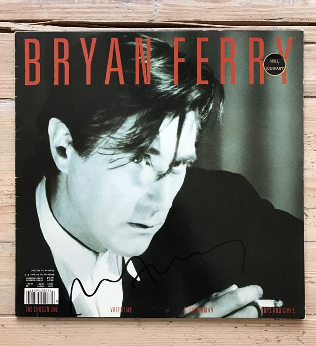 "Bryan Ferry : LP album ""Boys and Girls ""signed"