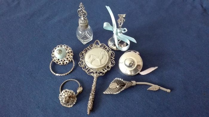 Miniature items - 925/1000 silver laminate
