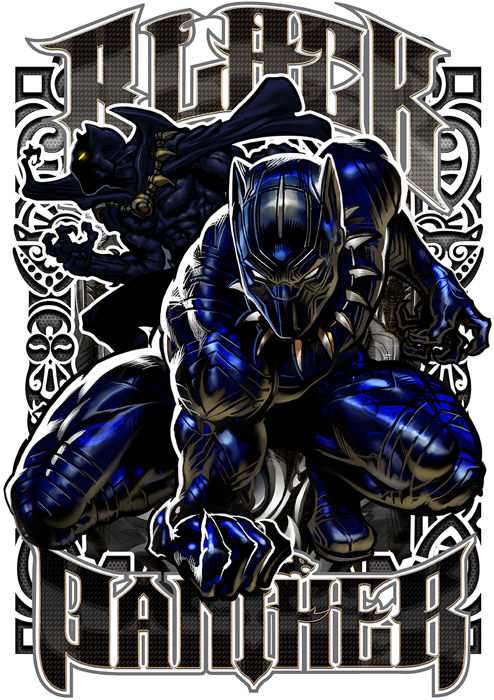 Black Panther - Limited Edition Signed Metal Print By David Bircham - (2018)