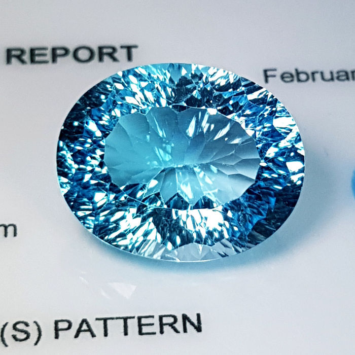 Swiss Blue Topaz - 15.63 ct