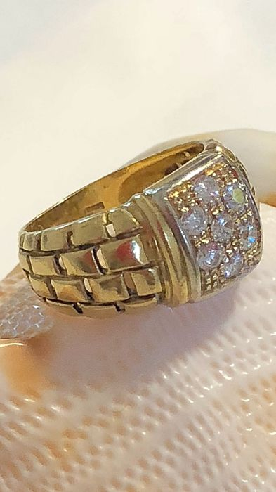 solid gold ring 18 carats
