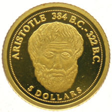 Cook Islands - 5 Dollars 2008 'Aristotle' - goud