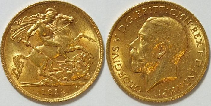 Great Britain – 1/2 sovereign 1912 - George V – gold