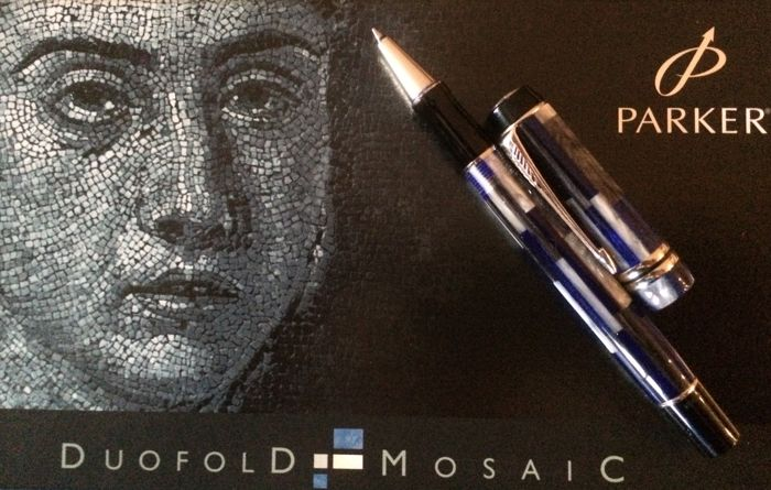 The Parker Duofold Mosaic was created using a composite of different coloured bands of moulded acrylic