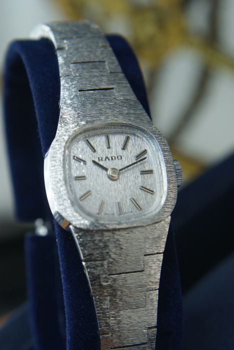 RADO - Mechanical -  Watch-Bracelet  - Full 18Kt White Gold plated - Dames - In perfect condition