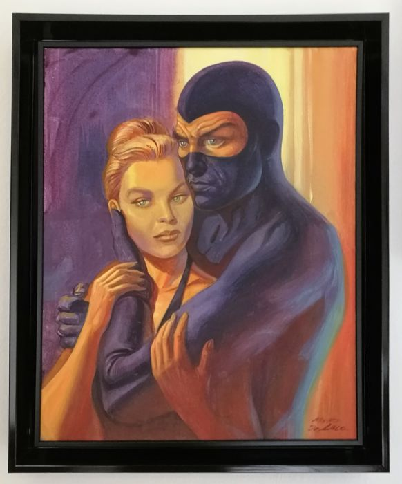 "De Luca, Mauro - original painting ""Diabolik and Eva"" (2012)"