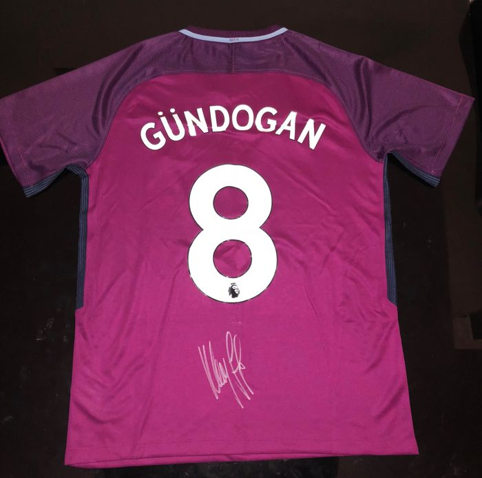 outlet store fa9ae 3df78 Signed Ilkay Gundogan Manchester City Shirt 17/18 Proof ...