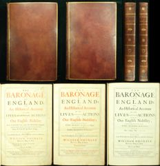 William Dugdale - The Baronage of England, or An Historical Account of the Lives and most Memorable Actions of Our English Nobility In the Saxons time, to the Norman Conquest - 1675/1676