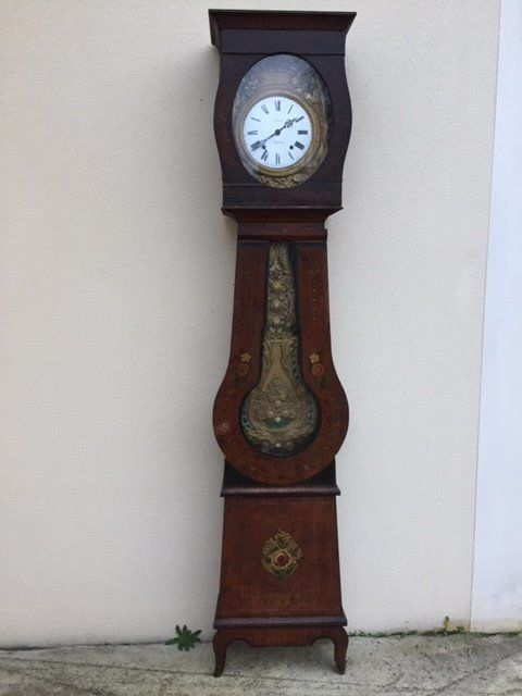 Parquet grandfather clock - by the clock-maker Neyraud - France, 19th century