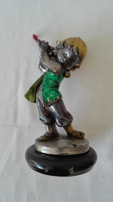 Vintage statue depicting a child - 800 silver laminate