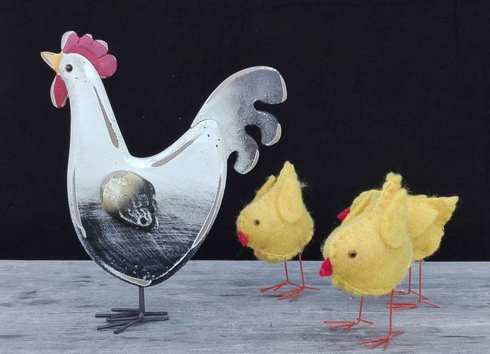 Easter chicken with chicks