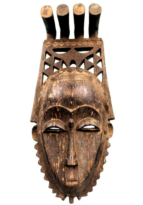 Delicate African Mask - YAOURE - Côte d'Ivoire