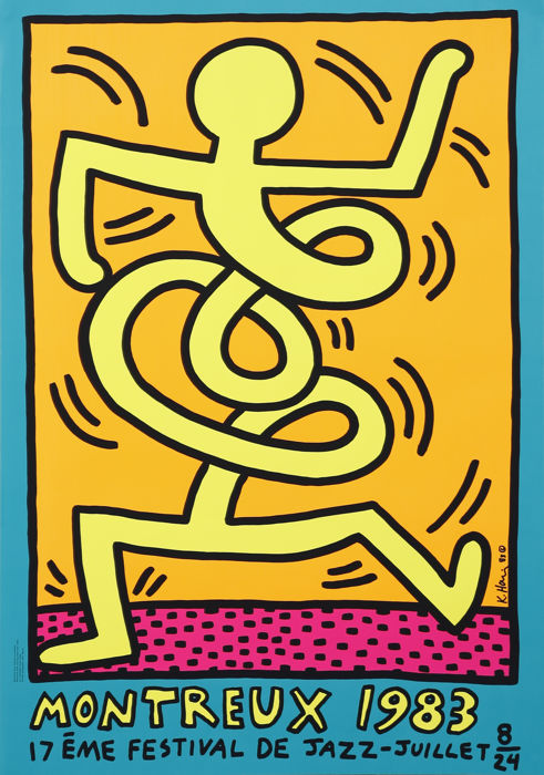 Keith Haring - Montreux Jazz Festival, 1983