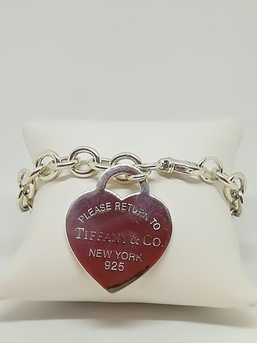 Tiffany & Co. - Bracelet with heart pendant 'Return to Tiffany' in 925 silver